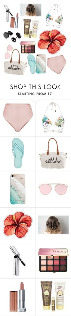 """Beach Day - Nora"" by sandstorm-xox ❤ liked on Polyvore featuring River Island, IPANEMA, Billabong, Gray Malin, LMNT, LaMont, Bobbi Brown Cosmetics, Sephora Collection, Maybelline and Sun Bum"