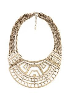 Tribal Cut Out Bib Necklaces - talk about a statement necklace!