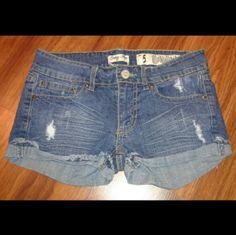 Shorts Distressed denim shorts  Great condition  No flaws  Sz 5 Shorts Jean Shorts