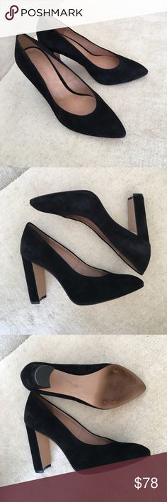 """Madewell Hanna heel suede leather pumps Love this gorgeous vintage inspired design. Only worn once, in perfect condition, like a new. Size 7.5, heel 4"""" Madewell Shoes Heels"""