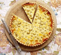 Gooseberry & vanilla custard tart - BBC Good Food