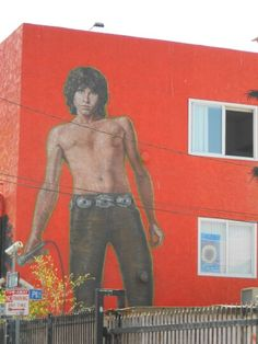 Jim Morrison mural - Venice Los Angeles