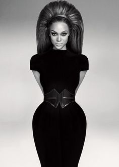 Tyra Banks, by Ruven Afanador, 2008 Not sure if it's just her hips in this pic, but I love the image and her shape.