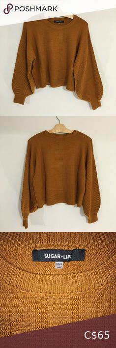 Is a size XS/S. very cute with a pair of dark rinse high waisted jeans! Worn twice. Plus Fashion, Fashion Tips, Fashion Trends, Burnt Orange, High Waist Jeans, Orange Color, Balloons, Scoop Neck, Sweaters For Women