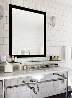 Modern Country Style: 10 Reasons To Love Basins With Washstands Click through for details.