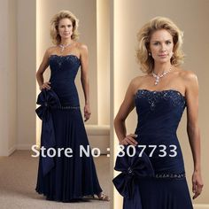 Find More Mother of the Bride Dresses Information about Free Shipping!!!Sheath strapless appliqued and beaded mother of the bride dress chiffon blue,High Quality beaded prom dress,China free shipping dress Suppliers, Cheap dress women from JM.Bridals on Aliexpress.com