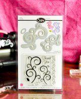 Sizzix Framelits Die Set 5PK w/Stamps - Swirls
