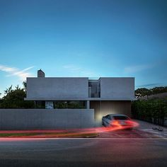 'Pryde House' coming home at dusk, by Hyde + Hyde Architects
