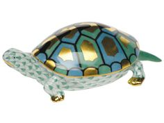 Turtle in Green by Herend, $345.00