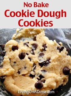 No Bake Cookie Dough Cookies Recipe - 20 Easy No Bake Cookies Desserts And Snacks Recipes