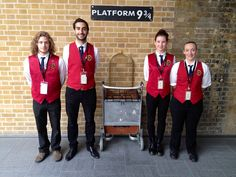 Take your photo with the trolley at Platform 9 3/4 at King's Cross Station in London #HarryPotter #London #KingsCrossStation