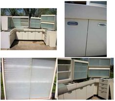 Metal Kitchen Cabinets Vintage vintage cast iron enameled sink and metal cabinets. much like mine