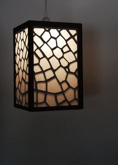 "Light: ""Baby Dragon(fly)"" Hanging Cardboard Light Pendant Lamp. $75.00, via Etsy."