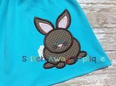 Easter Bunny Applique - 4 Sizes! | Easter | Machine Embroidery Designs | SWAKembroidery.com Stitch Away Applique