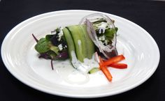 Salad Creation  Fresh Garden Greens, Cucumber Strip, Thin Red Onion, Farmers Tomato and Parmesan Cheese  #RiversideHotel #Catering