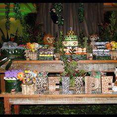 Festa Safari hoje no blog. Imagem do site Nathália Ventrilho. #festamenino #festasafari #encontrandoideias #festainfantil #Padgram