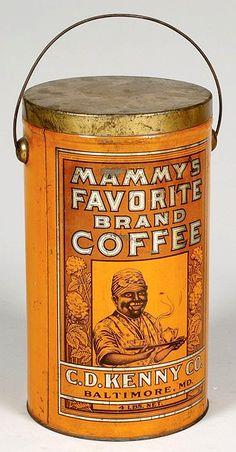 Tin-Coffee; Mammy's Favorite Brand, Bail Handle, 11 inch.