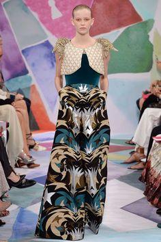 Schiaparelli Fall 2016 Couture Fashion Show - designer Bertrand Guyon.
