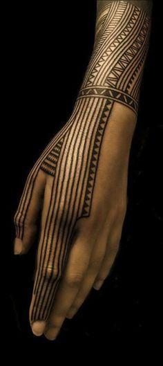 Henna hand.