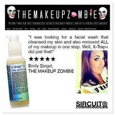 We're loving this great review of our best-selling cleanser, X-Trap™+, from Emily Siegel, makeup artist, hair stylist and creator of The Makeup Zombie, a blog dedicated to NON-TOXIC beauty! I really love this face wash, because it is so gentle and okay to use daily. My skin doesn't feel dried out after I use it, and my skin is free of all makeup which to me is awesome! Thanks Emily for this glowing review!