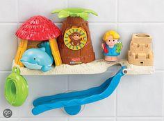 Iets van badspeelgoed dat je aan de muur kunt plakken... Voor in de douche