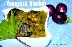 Gongura Vankai - Baby Eggplants in Gongura Leaf Gravy