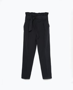 Image 6 of TIE-WAIST TROUSERS from Zara