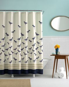 Bed, Bath and Beyond bird shower curtain