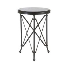 Gather 'round this charming Azalea Table for cocktails and conversation. Featuring an ornate metal frame and smooth marble tabletop, it's an elegant piece that will class up your room with its presence...  Find the Azalea Table, as seen in the The Billiards Room Collection at http://dotandbo.com/collections/the-billiards-room?utm_source=pinterest&utm_medium=organic&db_sku=101468