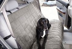 Sure Fit Slipcovers Waterproof Auto Bench Seat Cover - large bench seat cover in gray #winterize your car or truck, perfect for car rides with the family dogs! #pets