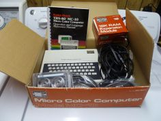 Radio Shack TRS-80 Micro Color Computer Model MC-10 with 16k Ram Expansion Module.
