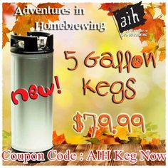 viaAdventures in Homebrewing. Thesebrand new NSF Certified Ball Lock Kegslist for $119.99. They have been marked down to $89.99 for a while. Use promo/coupon codeAIH Keg Nowand the price dr...
