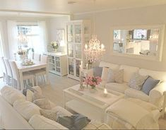 The Simple Romantic Living Room Trap 22 Living Room Nook, Interior Design Living Room, Living Room Designs, Living Room Decor, Dining Nook, Romantic Living Room, Casas Shabby Chic, White Rooms, Small Apartments
