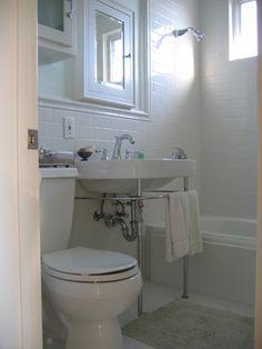 Bathrooms on pinterest small bathrooms tubs and corner tub for Bathroom design 5x7