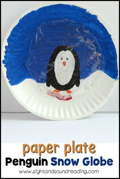 Paper Plate Penguin Snow Globe Instead of playing with dangerous and messy snow globes, kids can make their own paper plate penguin snow globe using a paper plate and some craft supplies! Animal Activities, Kindergarten Activities, Animal Crafts, Educational Activities, Learning Activities, Classroom Activities, Teaching Ideas, Christmas Crafts For Kids To Make, Polar Animals