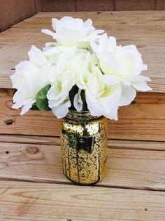 Hey, I found this really awesome Etsy listing at https://www.etsy.com/listing/228481384/5-pcs-gold-mercury-mason-jars-mason-jars