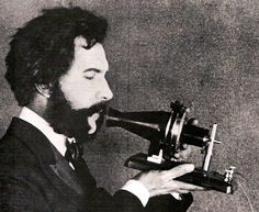Actor portraying Alexander Graham Bell in an AT&T promotional film (1926) - Erfindung des Telefons – Wikipedia