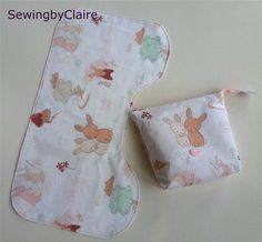 A cute Burp Cloth by SewingByClaire