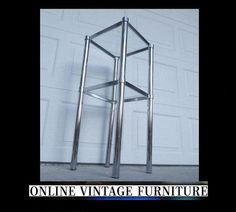 1970s Tall Accent Table mid century by OnVintageFurniture on Etsy, $400.00