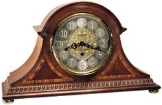 Howard Miller Webster Tambour-Style Mantel Clock (Key Wind)