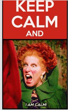 keep calm from Hocus Pocus. I like the keep calm poster, this one pretty awesome. Keep Calm Quotes, Story Of My Life, Just For Laughs, Laugh Out Loud, The Funny, Fall Funny, Funny Lady, Make Me Smile, I Laughed