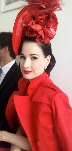Dita Von Teese beautiful in red.