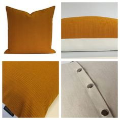 Plain Mustard Colour Vintage 70s Fabric Cushion Cover Ercol GPlan Style | eBay