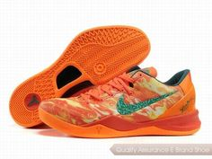 Nike Zoom Kobe 8 VIII Life Orange Green Shoes.More nike kobe 9 shoes for sale,buy cheap kobe shoes at www.24hshoesmall.com