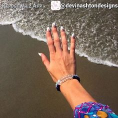 #ClientFiles #clientrequest nail designs! Support @devinashtondesigns via Waves & sun filled days! These beaded beauty are the perfect for your laid back beachy days. Score them on the site for just $16! #choosedevinashton