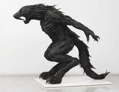 Hybrid (Human to Werewolf) created out of used tires by a Korean artist named Yong Ho Ji.