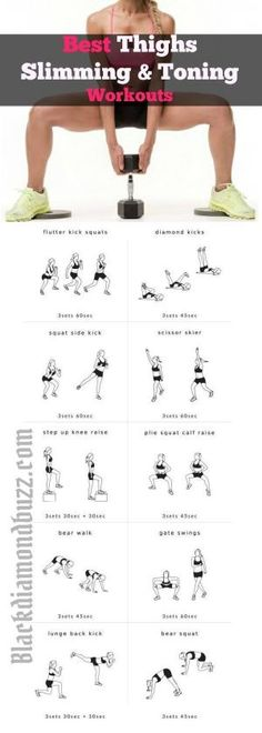 Best thighs slimming and Legs toning workout for women : Discover how to reduce lower inner thigh fat and tone your legs in 7 days.With this exercises you can lose 10 pounds in 7 days ! by eva.ritz