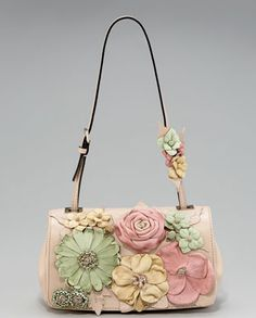 ff438d1b2d07 Valentino Flower Flap Bag  deciding between this one and the all white for  spring 2013