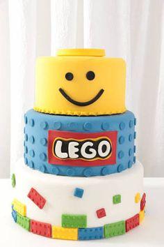 Resultado de imagem para bolo lego