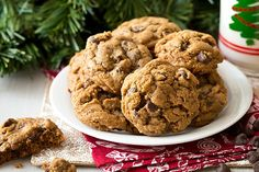 Soft and chewy with a bit of spice and fresh ginger, these Gingerbread Chocolate Chip Cookies will be Santa's new favorite Christmas cookie.